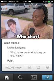 Meme Fails - epic ponytail and faith in justin bieber hair fail funny