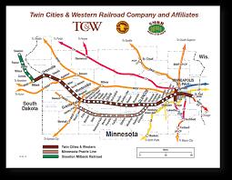 South Dakota Map With Cities Rail Map U0026 Directions Twin Cities U0026 Western Railroad Twin