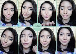 wardah flv blue pink makeup tutorial silvertrere natural