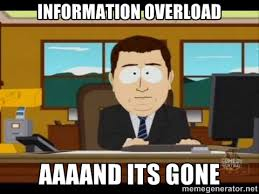 Meme Overload - stop information overload and treating your mind like a filing cabinet
