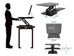 Sit Stand Desk Converter by Standing Desk Converters Compact Series Flexispot