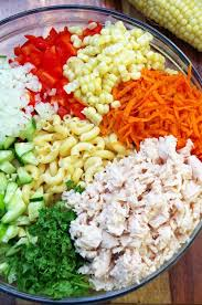 chicken pasta salad cold chicken pasta salad recipe turning the clock back