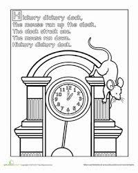 preschool coloring pages nursery rhymes hickory dickory dock coloring page hickory dickory dock animal