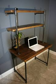 Built In Bookshelves With Desk by Computer Desk W Storage Shelves Reclaimed Wood Ny Usa Lower