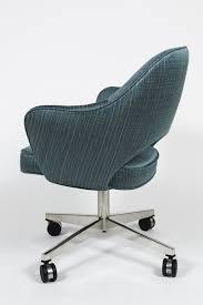 vintage saarinen executive swivel armchair reupholstered in
