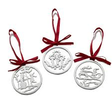 buy mikasa set of 3 silver plated ornaments