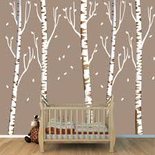 Reusable Wallpaper by Birch Tree Decal Reusable Repositionable White Birch Tree Wall