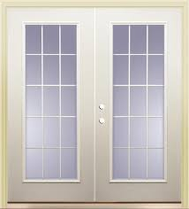 15 light french door mastercraft primed steel 72 x 80 15 lite french patio door at