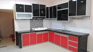 nice aluminium kitchen cabinet on house design inspiration with