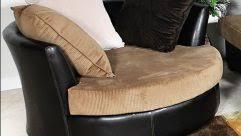 elegant cream swivel chairs for living room beside lamp shade on