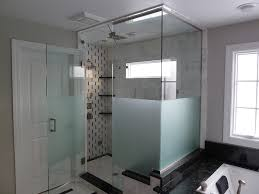 corner enclosure etched u0026 sandblasted shower doors creative