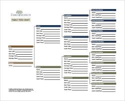 Free Family Tree Template Excel Family Tree Chart Template 9 Free Word Excel Pdf Format