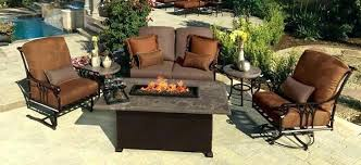 lovely patio furniture fire pit for 5 piece aluminum outdoor patio