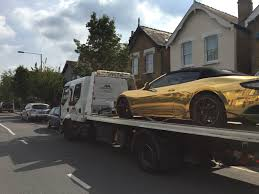 police seize gold maserati with l plates from driver with no