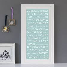 Duck Egg Blue Blind Personalised Destination Print By Betsy Benn Notonthehighstreet Com