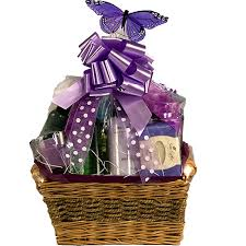 gift basket relaxing bath gift basket for a woman lavender bath basket