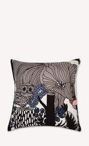 veljekset cushion cover 50x50 cm grey black brown marimekko com