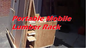 Mobile Lumber Storage Rack Plans by Portable Mobile Lumber Rack Youtube
