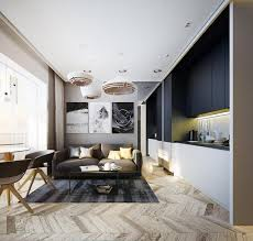 Modern Apartment Ideas Single Personl Studio Design With Bright - Modern apartment interior design