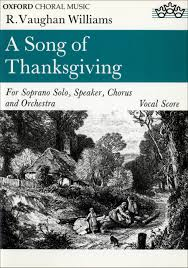 vaughan williams a song of thanksgiving presto sheet