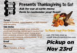 thanksgiving dinner to go freight kitchen tap