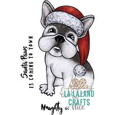la la land crafts rubber cling stamp christmas frenchie
