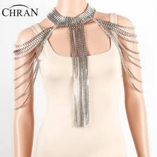 metal necklace dress images Chran silver full metal body shoulder chain jewelry necklace waist jpg