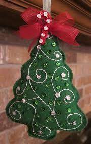 handmade felt tree ornament by beauxtails on etsy 8 00
