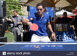 table tennis los angeles mario lopez playing table tennis at his birthday party put on him by