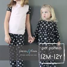 all you need jammies pajamas pattern pdf 12m 12y
