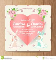 Marriage Invitation Card Sample Wedding Invitation Card Templates Cartoon Character Rabbit Bri