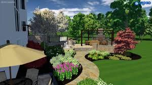 Home Landscape Design Studio by Chicago Backyard Landscape Design Vizx Design Studios 855