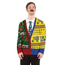 hanukkah vest men s costume christmas hanukkah sweater sleeve