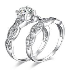 what is a bridal set ring jewelrypalace 1 5ct infinity cubic zirconia