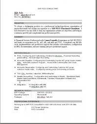 Sap Fico Sample Resume 3 Years Experience by Fascinating Sap Data Migration Resume