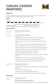 Logistics Manager Resume Examples by International Sales Manager Resume Samples Visualcv Resume