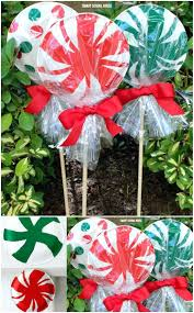 outdoor christmas decor homemade outdoor christmas decorations 1 giant paper plate lollipops