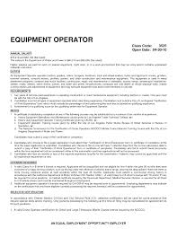 exle cover letter resume ideas collection heavy equipment operator resume exles sles