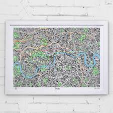 san francisco map framed map of san francisco print prints stationery