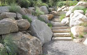 Rock Garden Steps by Stone Walls And Steps Insite Landscape