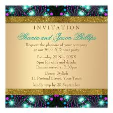 Dinner Party Invitations Blacklight Sparkle Dinner Party Invitation Zazzle