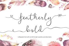 featherly bold wedding swash font script fonts creative market