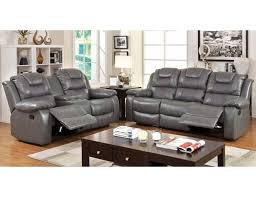 Grey Leather Recliner Recliner Sofa With Drop Table