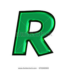abstract letter rstyle waterdrops on leaf stock illustration