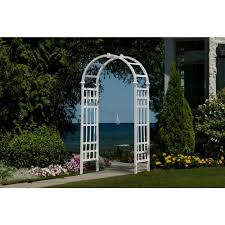 wedding arches home depot new arbors athens 81 in x 36 in white vinyl arbor