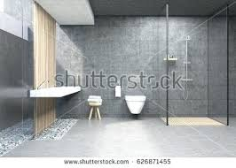 bathroom glass wallsbathroom interior with gray walls a shower