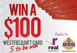 win gift cards competition win 1 of 5 100 westfield gift vouchers thanks to