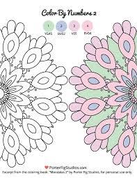 free mandala coloring color numbers 2 porter fig studios
