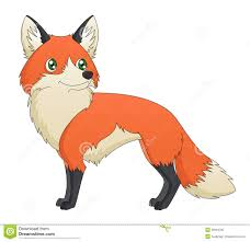 cartoon red fox standing royalty free stock photo image 28994795