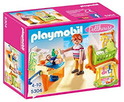 chambre enfant playmobil playmobil 5304 la chambre à coucher de bébé amazon fr jeux et